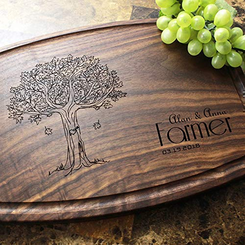 Personalized Engraved Custom Cutting Board Oakland Mall - Wed or free Housewarming