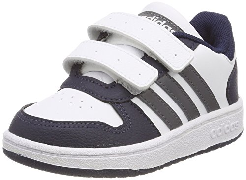 Adidas Hoops 2.0 CMF I, Zapatillas de Deporte Niños Unisex niño, Blanco (Ftwbla/Gricin/Maruni 000), 25.5 EU
