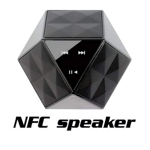 Haut-Parleur Bluetooth Mini Touch NFC, Carte TF avec Support pour Haut-Parleur sans Fil extérieur intérieur et extérieur, Forme Black Diamond