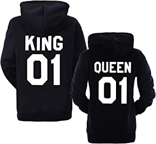 30296407 ORANDESIGNE Pärchen Kapuzenpullover King & Queen 01 Mann Frau Paar-Pullover  Bedrucken Partnerlook für Couple