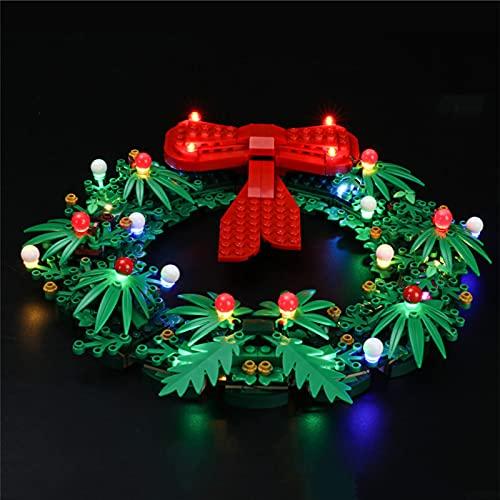 Sungvool Lego 40426 - Juego de luces LED para corona de Navidad 2 en 1 (no incluye modelo Lego)