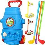 WYLDDP Set de Golf para niños con retráctil Palanca, Adecuado para niños Mayores de 3 años, Interior y Exterior y jardín en Reproducir.