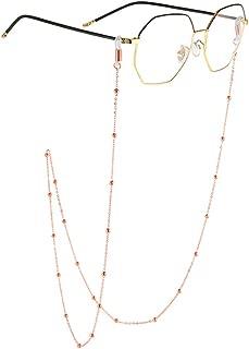 AllenCOCO 18K Gold Plated Eyeglass Chain Sunglasses Eyewear Strap Holder Reading Glasses Retainer for Women