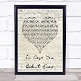 in Case You Didn't Know Script Heart Song Lyric Quote Music Poster Gift Present Art Print