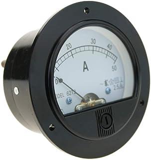 BeMatik   Meter elektrisch analog für Platte Runde 70mm 50A Amperemeter