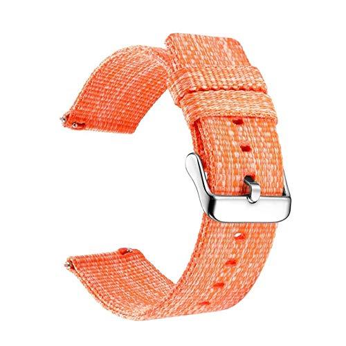 TWWSA Exquisito Nylon 18mm 20 mm 22mm Reloj de Reloj for Samsung Galaxy Watch 46mm 42mm for Gear S3 S2 Sport Watch Strap Reemplazo para Amazfit BIP para reemplazar