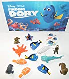 Finding Dory Movie Quality Figure Set of 10 Hand Held Characters with Fun ToyRing and Easy to Use Tattoo Features Dory with Her Friends and Family!