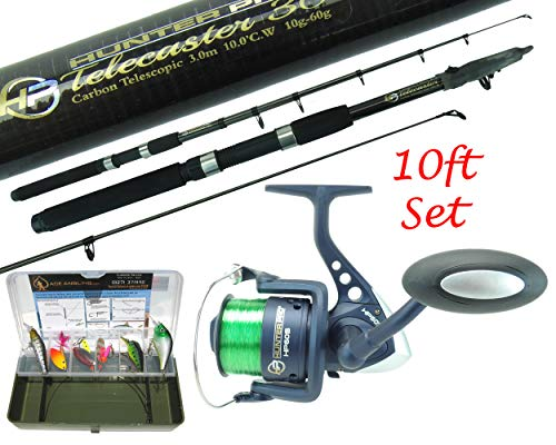Pike Fishing Spinning Kit 6ft or 8ft Carbon Concept Rod, NGT Reel & Tackle...
