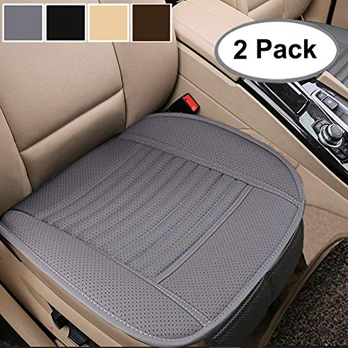Big Ant 2 Pack Car Seat Cushions Interior Seat Covers Cushion Pad Mat for Auto Supplies Office Chair with Breathable PU Leather(Gray)