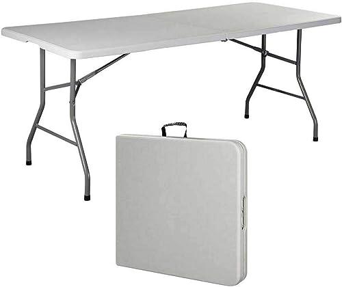 discount Giantex Folding online sale online Table, Off White outlet online sale