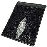 マネークリップ 二つ折り 財布 スティングレイ ブラック メンズ レディース シンプル スターマーク小
