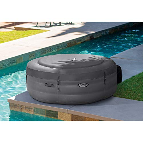 Intex 28481E Simple Spa 77in x 26in Inflatable Hot Tub Bubble Jet Spa with Filter Pump