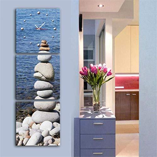 MKJ004 Moderne minimalistische creatieve lamp/moderne stijl canvas schilderij pastorale landschap wandklok canvas 2 stuks