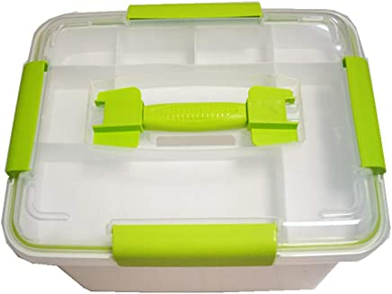 Mayish Small Potrable Plastic Clear First Aid Storage Box