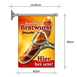 net-xpress Bratwurst-Fahne für Imbiss-Werbung A2 Flagge