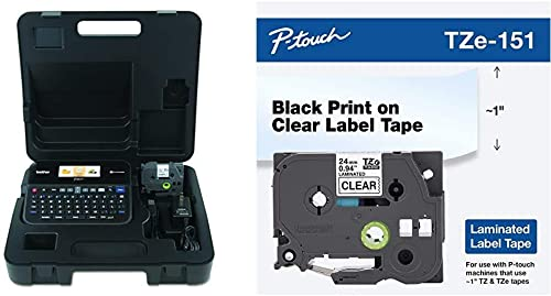 Brother P-Touch, PTD600VP, PC-Connectable Label Maker with Full Color Graphical Display, Split-Back Tapes, 14 Fonts, ...