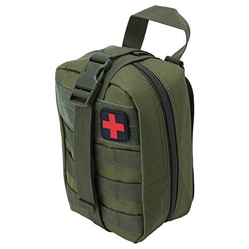 Tactical Erste Hilfe Tasche, Outdoor Medical Erste Hilfe Tasche Klettern Notfall Etui Utility Case(Grün)