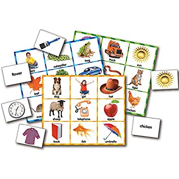 The Learning Journey  Match It! Bingo - Picture Word - Reading Game for Preschool and Kindergarten 36 Picture Word Cards 9.5  H x 8  W x 0.1  D