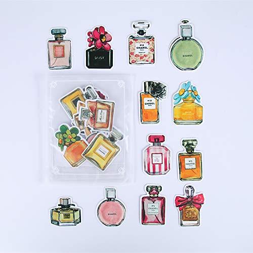YFB Hand Konto Aufkleber Emoji Material Handy Aufkleber Band Hand Konto Werkzeug Set Mori Mädchen Tagebuch dekorative Parfüm-Flasche (ca. 25)