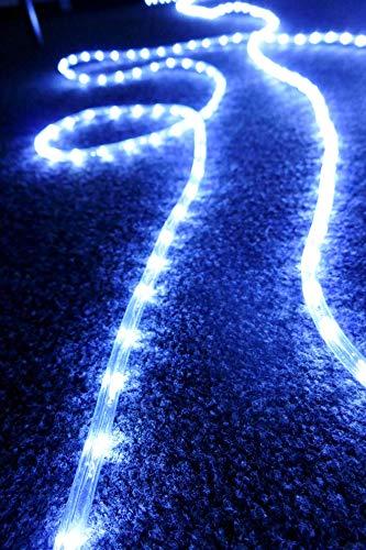 AMARE - Catena Luminosa Con 240 LED, In Plastica E Rame, Bianco, 10 M