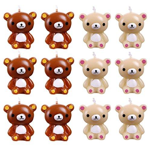 Velas de Cumpleaños, Funpa 12Pcs Velas de Animales Velas de Dibujos Animados Velas de Pastel Para el Día de San Valentín De Cumpleaños