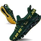 JSLEAP Sneakers Men Fashion Casual Monochrome Running Sports Slip Shock Absorption Running Walking Shoes