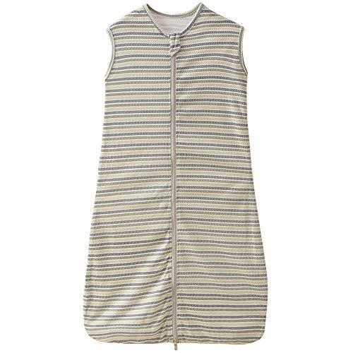 Saco de dormir para bebé, verano, para niñas, primavera, de algodón, con flecha, verde, gris y azul, 0,5 tog. (150 cm (6-10 años), diseño de rayas B