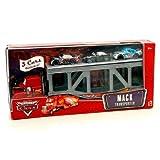 CARS - Disney / Pixar MACK TRANSPORTER + NITROADE, BUMPER SAVE, BOB CUTLASS (camión + 3 coches).