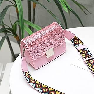 Leather New Women's Shoulder Wallet Messenger Wallet Small Fresh Wild Diagonal Wallet Waterproof (Color : Pink, Size : S)
