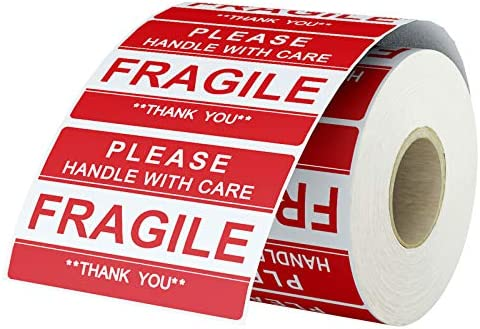 LabelChoice 2 x 3 Fragile Stickers Please Handle with Care Fragile Thank You Warning Fragile product image