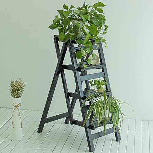 Barhocker Multifunktions-Haushalts-Klappleiter aus massivem Holz vierstufiger Treppenlift-Arbeitstisch für den Innenbereich mit doppeltem Verwendungszweck Verdickungsrahmen Trittleiter ( Farbe : C )