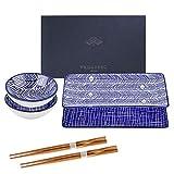 vancasso Sushi Set, TAKAKI 6-teilig Sushi Teller Porzellan japanische ESS Service Geschirrset für 2...