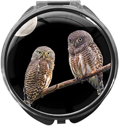 metALUm Pillendose mit Spiegel rund Metall 3 Fächer EULEN #1181