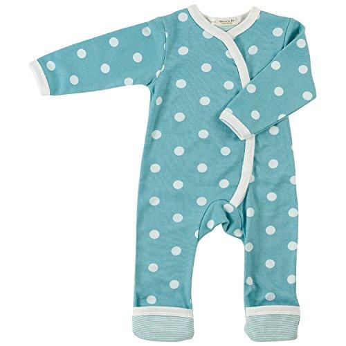 Pigeon-organics For Kids Grenouillère Pyjama Romper Long Spotty Bleu 0-5 m