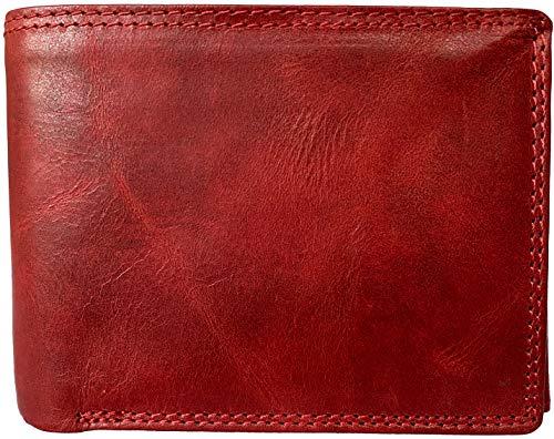 Lundholm leren portemonnee dames leer rood RFID Uppsala serie billfold pasjes houder portemonnee rood rfid leer cadeau voor vrouw