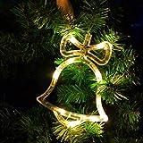 Sunshine smile LED Vorhang Licht, LED Fensterlicht Saugnapf,Kabelbeleuchtung,Fensterlichter,lichtervorhang Fenster led,Lichterkette,Lichtervorhang Lichter Weihnachtsbeleuchtung(6 Pcs) - 2