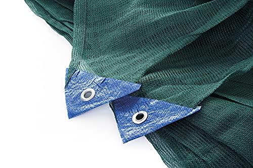 VERDELOOK Tessuto monofilo in polietilene per la Raccolta delle Olive, antispina 4x8 m, Verde