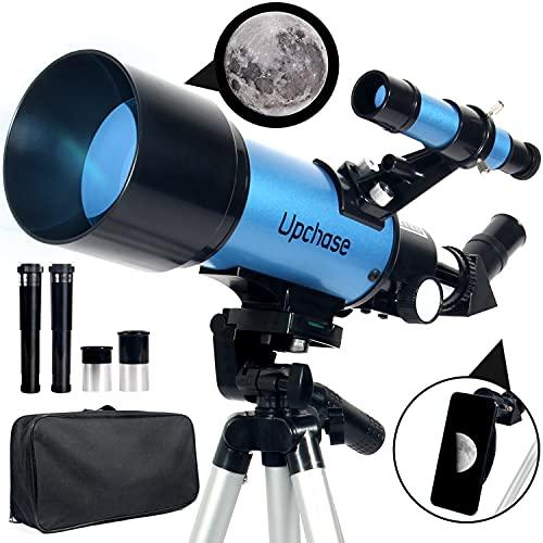 Upchase Telescopio Astronomico, 400/70mm Blue, Telescopio Rifrattore, Adatto per...