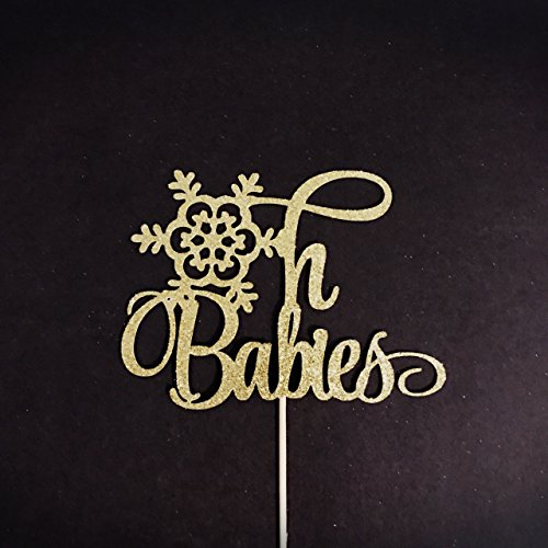Oh Babies Cake Topper, Twins Baby Shower Cake Topper, Winter Baby Shower Cake Topper, Baby Boys Cake Topper, Baby Girls Cake Topper, Gender Reveal Cake Topper, Winter Baby Party