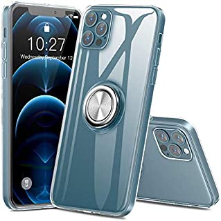Lenuo Case For iPhone 12 (Pro Max-Pro-12-Mini) Transparent Slim Thin - Finger Ring Holder Kickstand - Shockproof Soft TPU ...