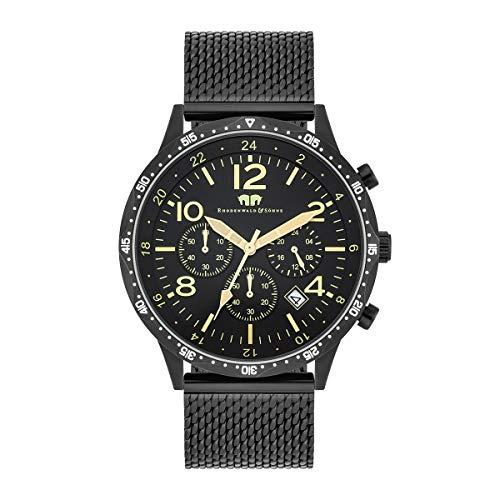 Rhodenwald & Söhne Reloj para Hombre análoga Japón Mecanismo de Cuarzo con Correa de Acero Fino 10010311