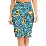 DAWN&ROSE - Falda larga para mujer con diseño de tigres tropicales
