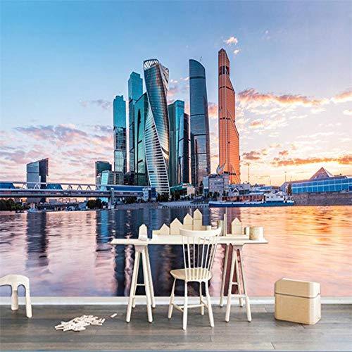 HD moderno puerto de la ciudad paisaje material no tejido fondo personalizado gran mural verde fondo de pantalla-450X300cm