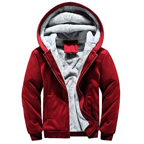 Ears Herren Hoodie Winter Warm Fleece Zipper Sweater Jacke Outwear Mantel Tops Blusen Kapuzenpullover Langarm Sweatshirt Casual Jacke Freizeit