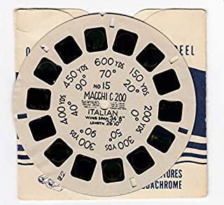 MACCHI C 200 Italian Aircraft Airplane 1942 World WAR 2 Army AIR Forces Flying Training Command View-Master Viewmaster Reel