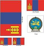 U24 Aufkleberbogen Mongolei Aufkleber Set Flagge Fahne