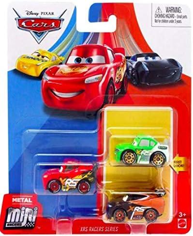 Disney Pixar Cars Die Cast Metal Mini Racers XRS Racers Series Car 3 Pack New Look Tim Threadless product image