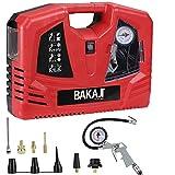 Bakaji Compressore Aria Portatile Potenza 1100W 8 Bar con Pistola Aria Compressa Manometro Integrato...