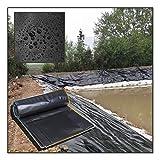 Teichfolie, Für Garten Landschaftsbau Pools Brunnen HDPE-Material Heavy Duty Gardens Pools Membran 0,3 Mm Dicke (Color : Black, Size : 10X15ft/3X4.6M)
