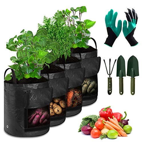 (Kupon Diskon 50%) Tas Tumbuh Kapasitas Besar dengan Sarung Tangan & Alat Berkebun $ 13.99